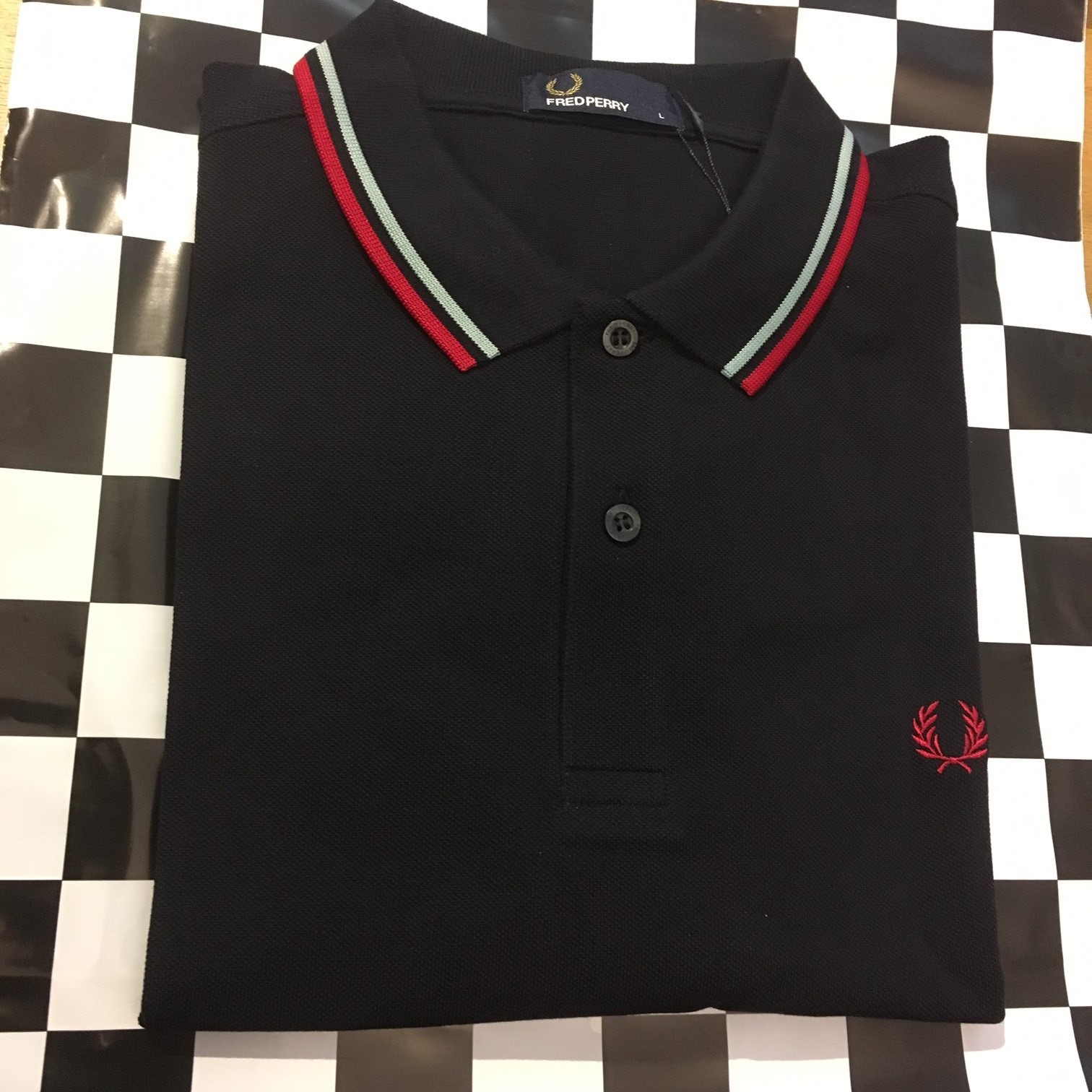 a0b5f882 Fred Perry Twin Tipped Polo Shirt Navy/Mint/Terra - Rockawaybeach