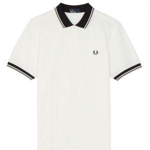4ca426c883e Fred Perry Contrast Rib Piqué Polo Shirt Snow White